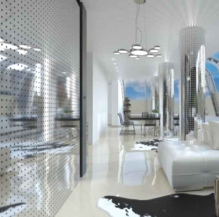 Декоративная панель VERGE техно 2D хром